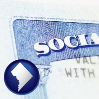 washington-dc a Social Security card