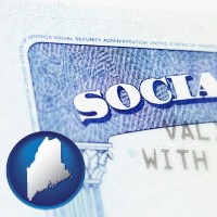 maine a Social Security card