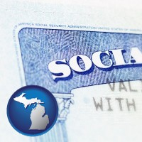 michigan a Social Security card