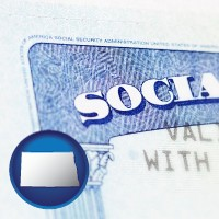 north-dakota a Social Security card