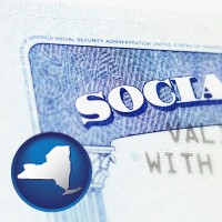 new-york a Social Security card