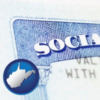 west-virginia a Social Security card