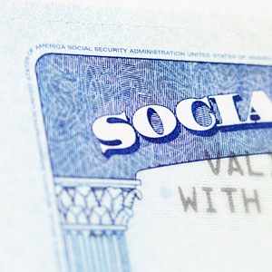 a Social Security card